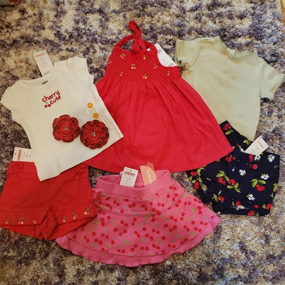 NWT 7 Pc. All Gymboree 3-6 month Cherry themed lot